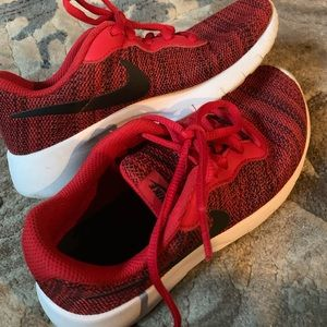 Kids Red Nike Zoom Running Shoes